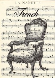 French chair and music...smaller